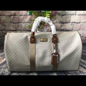 Michael Kors XL Duffle Duffel Vanilla Luggage Bag
